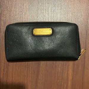 Marc by Marc Jacobs black zip continental wallet